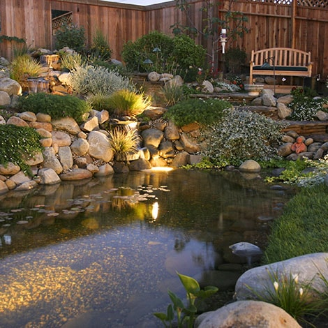 When is the best time to install underwater pond lighting?