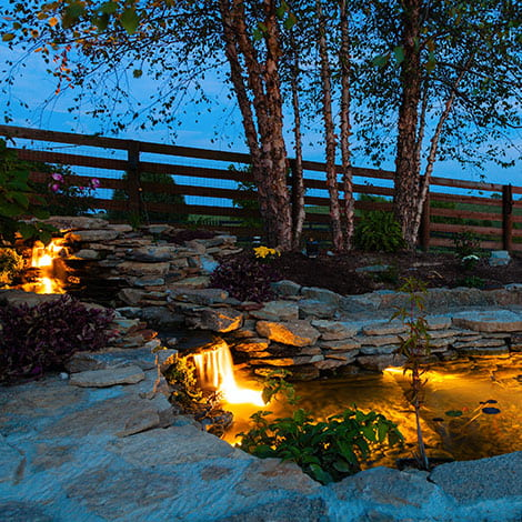 Do I need to hire someone to install lighting in my pond, or is that something I can do?