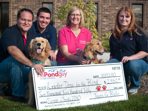 The Pond Guy Presents Their Leader Dogs for the Blind Donation
