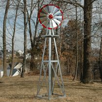 Decorative Galvanized Backyard Windmills