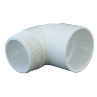 90º PVC Plumbing Elbow (Slip x MPT)