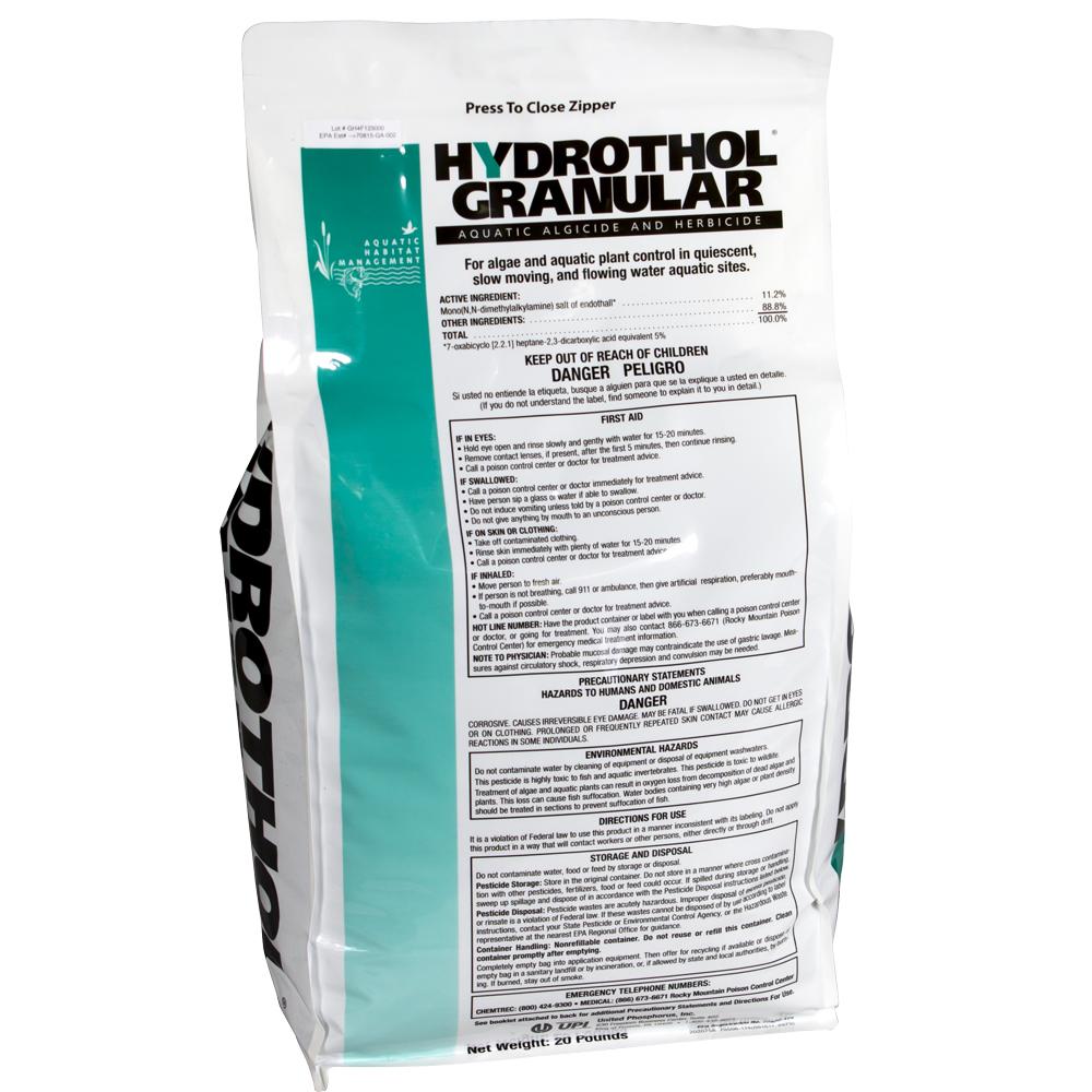 Hydrothol<sup>&reg;</sup> Granular Aquatic Algaecide & Herbicide