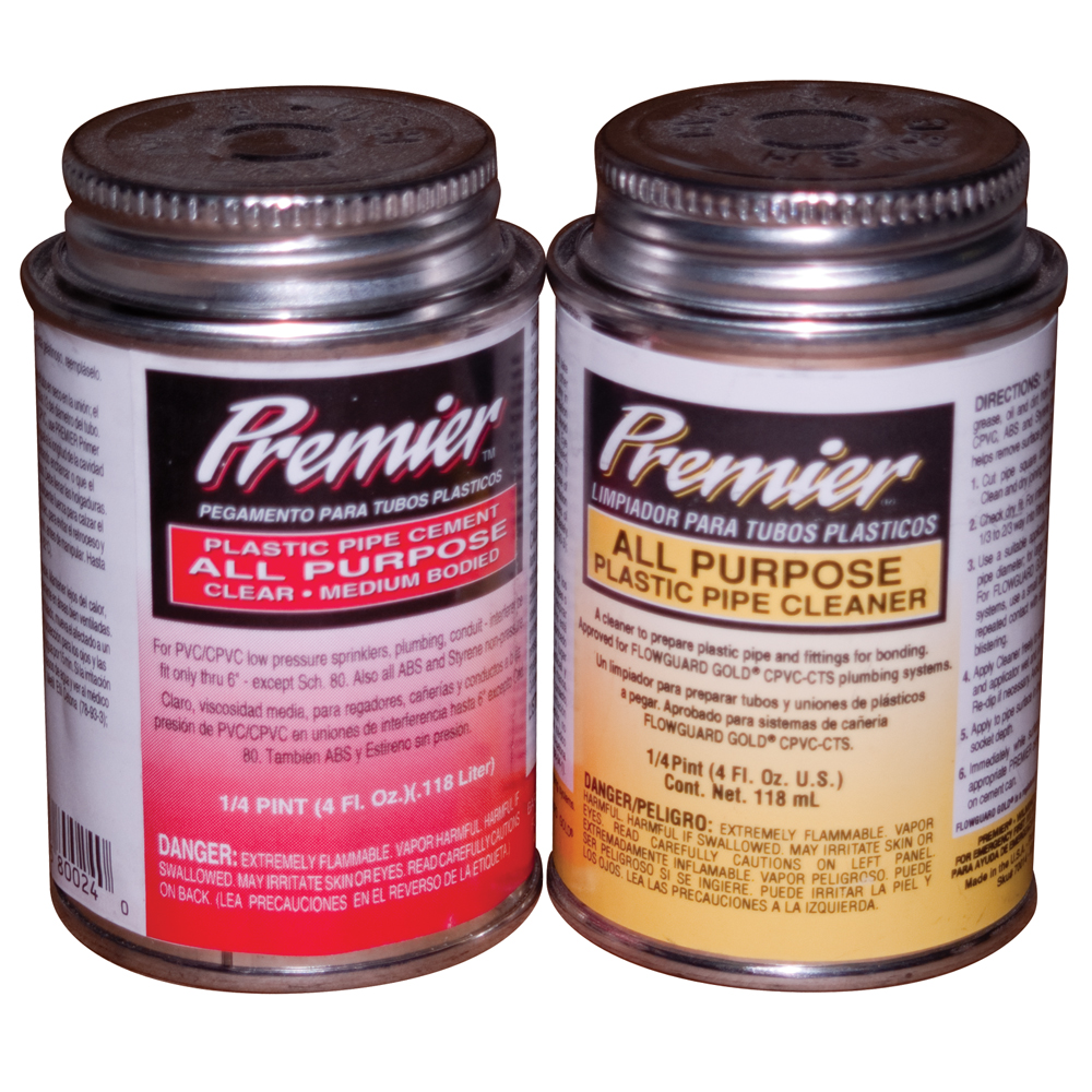 Premier<sup>&trade;</sup> All Purpose PVC Glue &amp; Primer