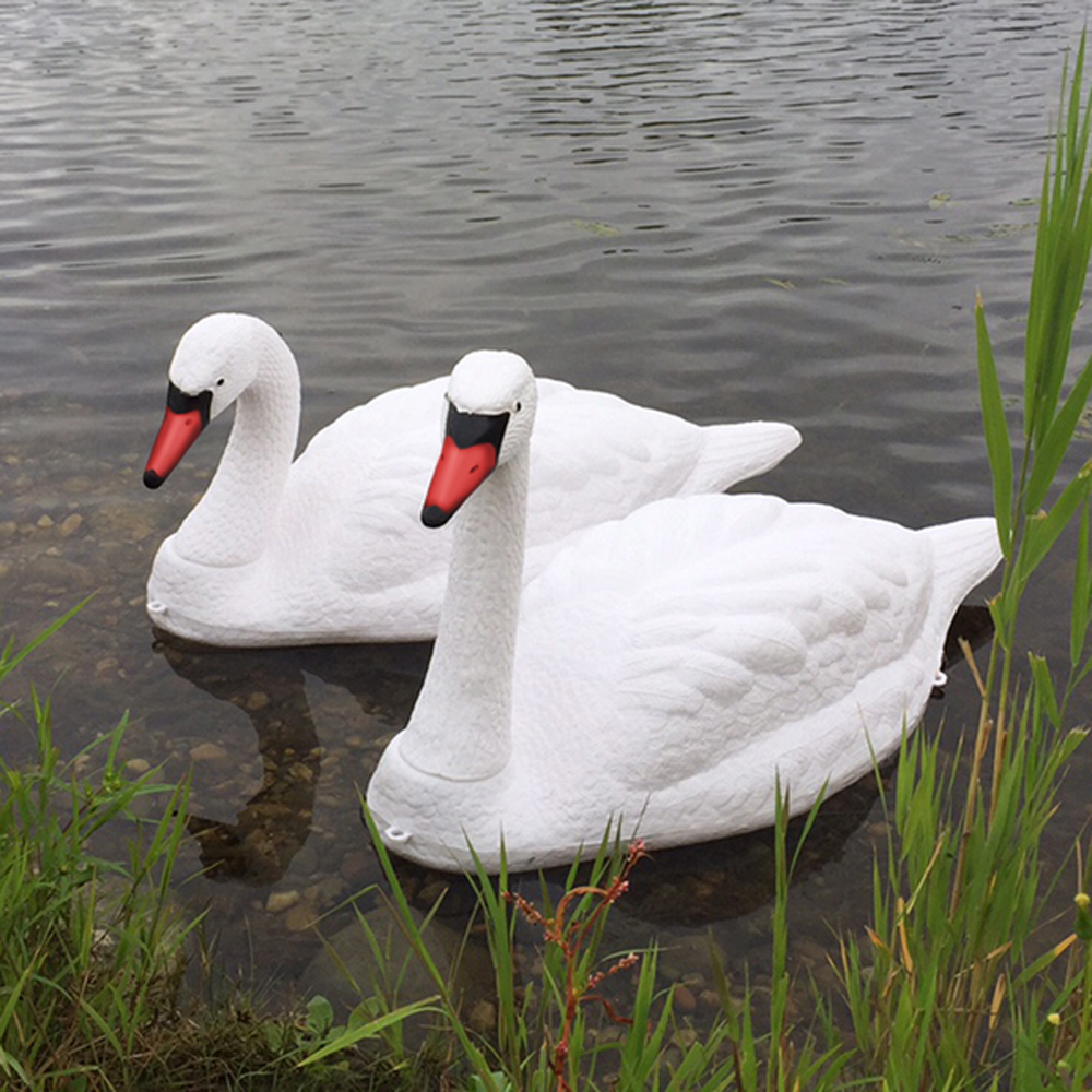 Floating Swan Decoy Pair