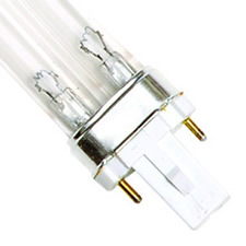 "9 Watt UV Bulb (2 Pin - Single Clip) - 6.5"" Long"